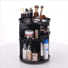 Load image into Gallery viewer, BloomVenus Black 360-Degree Rotating Makeup Organizer