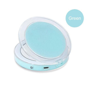 BloomVenus Green Compact LED Makeup Mirror
