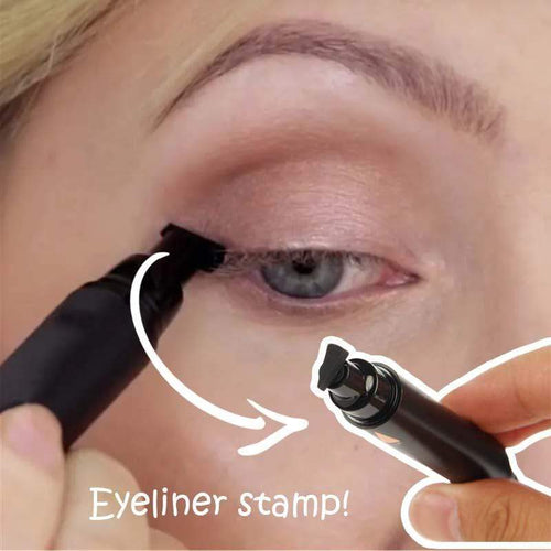 BloomVenus HANDAIYAN 2-in-1 Eyeliner + Wing Seal Stamp Pen