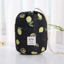 Load image into Gallery viewer, BloomVenus lemon Women Travel Round Makeup Bag