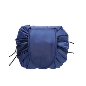 BloomVenus Navy Blue NiftyStorage™ Drawstring Makeup Storage Bag