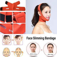 Load image into Gallery viewer, BloomVenus Orange one size Face Slimming Bandage