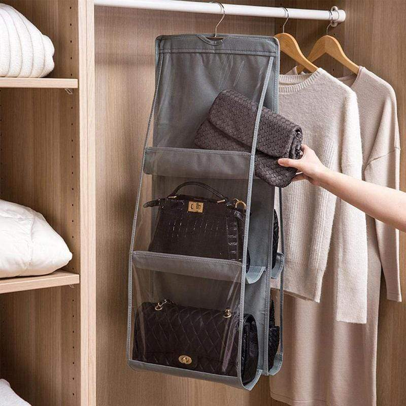 BloomVenus OrgaNice™ 6-Large-Pockets Hanging Handbag Organizer