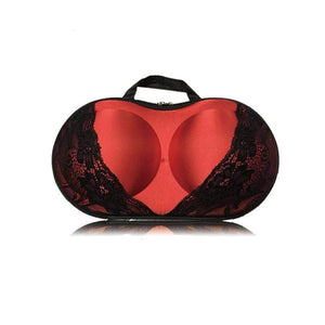 BloomVenus Red Black KeepMe™ Travel Bra Storage Case
