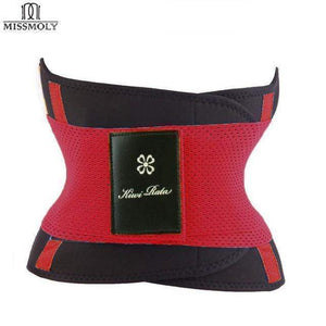 BloomVenus Red / L / China Thermo Waist Trimmer Trainer Belt