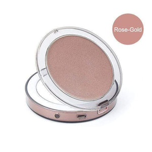 BloomVenus Rose Gold Compact LED Makeup Mirror