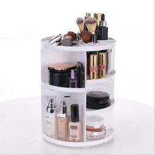 Load image into Gallery viewer, BloomVenus White 360-Degree Rotating Makeup Organizer