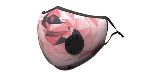 Pink Fractal Print Summer Cotton Face Mask w/2 PM 2.5 Carbon Filters