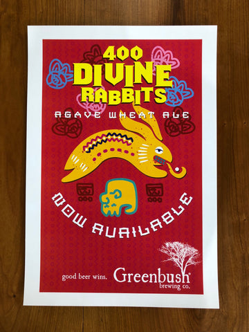 400 Divine Rabbits Aztec Inspired Poster