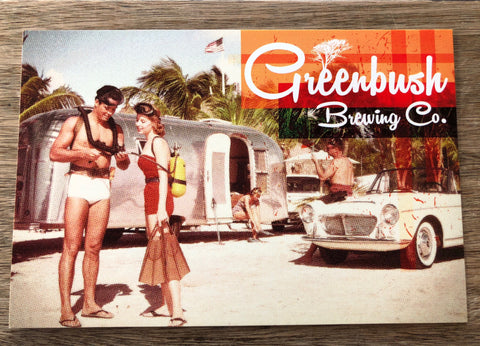 Airstream and Scuba Postcard