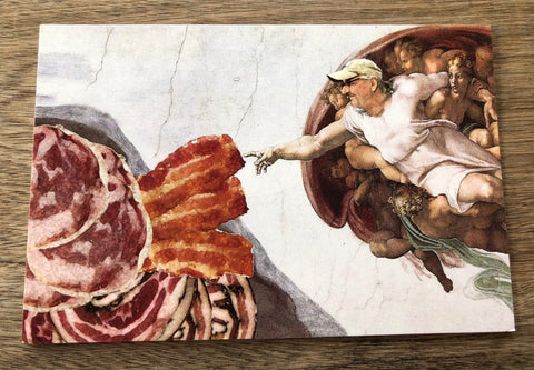 Creation of Meat Postcard
