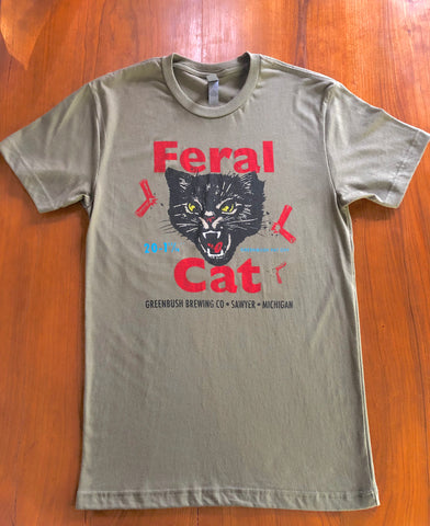 Military Green Feral Cat Shirt
