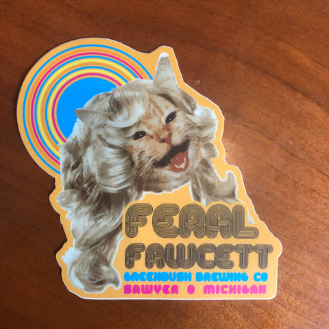 Feral Fawcett Vinyl Sticker