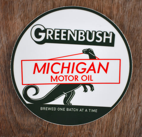 Michigan Motor Oil Sticker