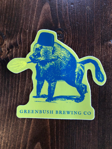 Die-cut Smoking Baboon Sticker
