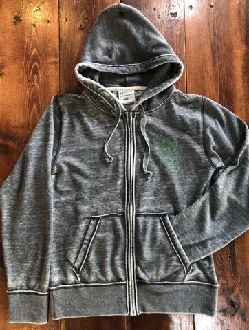 Vintage Grey Zip-up Hoodie