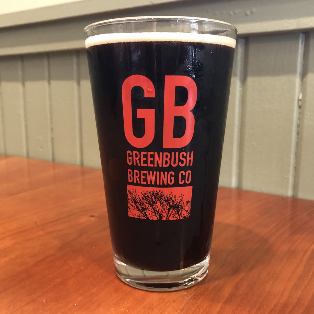Red GB Logo Pint Glass
