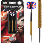 NEW Eric Bristow Ringed Steel Tip Tungsten Darts, silver, gold, black 22g -26g
