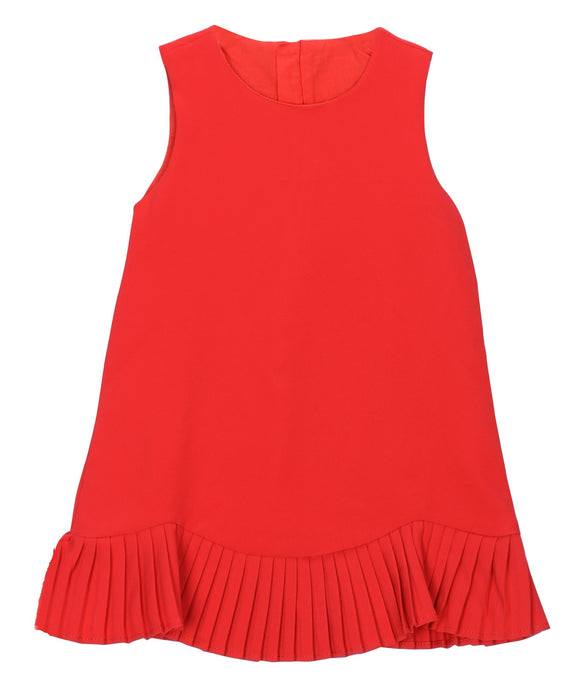 JUSBE KIDS GIRLS PLEATED HEMLINE SLEEVELESS RED DRESS cape cod fashionista