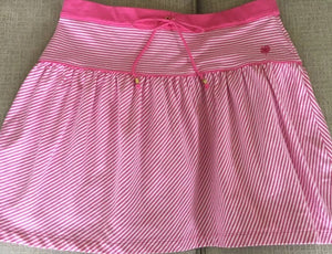 LILLY PULITZER COTTON SPANDEX ELASTIC BAND  STRIPED SKIRT WITH LOGO