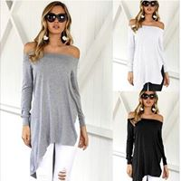 WOMEN'S OFF SHOULDER ASYMMETRIC TOP