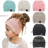 mommy and me matching cc MULTI COLOR ponytail beanie hats