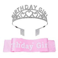 BIRTHDAY GIRL tiara and sash CAPE COD FASHIONISTA