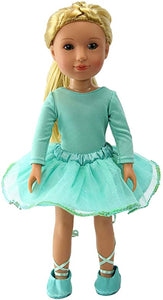 14.5 INCH DOLL Sparkling Lime Green Dance Outfit with shoes
