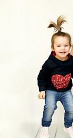 MATCHING MOMMY & ME SEQUIN HEART HOODIE