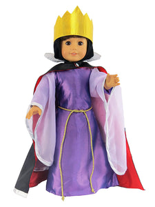 6 pc EVIL QUEEN COSTUME FOR AMERICAN GIRL DOLL