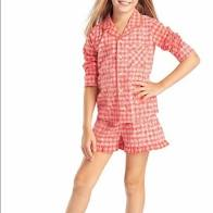 AMERICAN GIRL Tenney Grant's Gingham Pajamas for Girls AND Dolls
