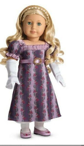 AMERICAN GIRL RETIRED Caroline's Holiday Gown 2 piece NWOT