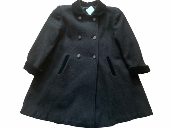 CUTE TOGS - GIRLS DOUBLE BREASTED BLACK PEA COAT CAPECOD FASHIONISTA