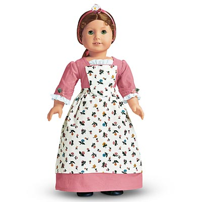 American Girl Felicity Spring GOWN & PINNER APRON Cecile Elizabeth Marie-Grace