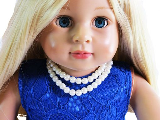 Faux Pearls or heart necklace for American Girl & 18
