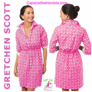 GRETCHEN SCOTT MOMMY & ME COTTON PULLEY PINWHEEL WOMEN'S CASUAL  DRESS & BOYS SHIRTS CAPE COD FASHIONISTA