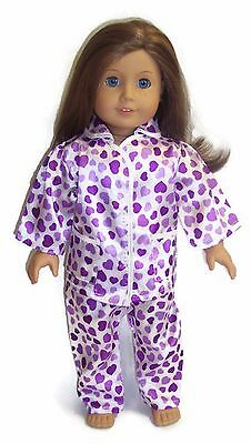 2 Piece SATIN  PAJAMAS FOR AMERICAN GIRL DOLL