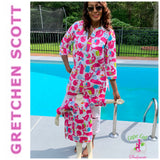 "Gretchen Scott-""MOMMY & ME""  Pink Whale Watcher CASUAL Tunic Top"