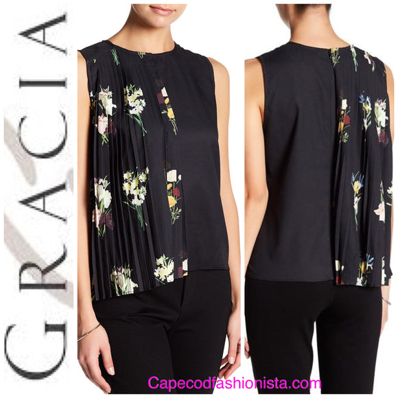 GRACIA WRAP OVER PLEATED TOP- FEATURED