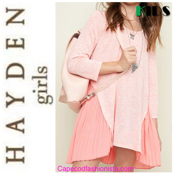 HAYDEN GIRLS - PLEATED FALL BACK TUNIC