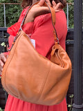 LAUREN by Ralph Lauren SOFT PEBBLED SHOULDER HOBO TOTE HANDBAG