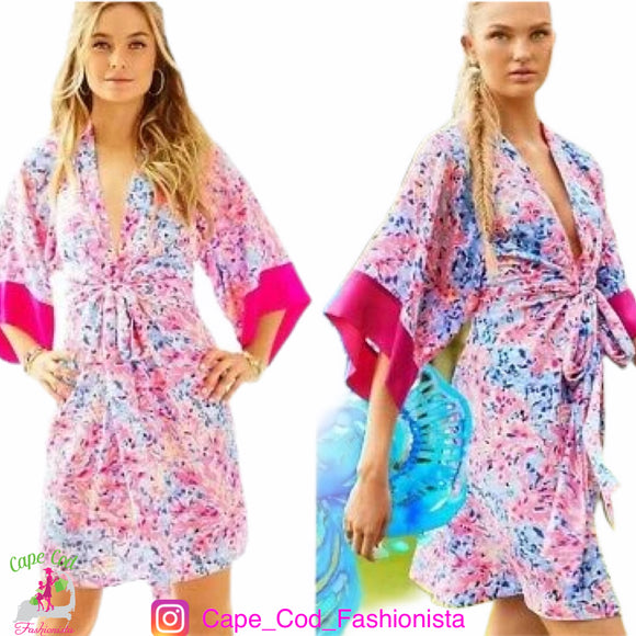 🌺   LILLY PULITZER - SILK  WRAP KIMORA