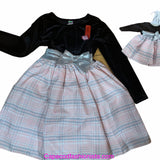 DOLLIE & ME HOLIDAY SPECIAL OCCASION DRESS WITH MATCHING DOLL DRESS