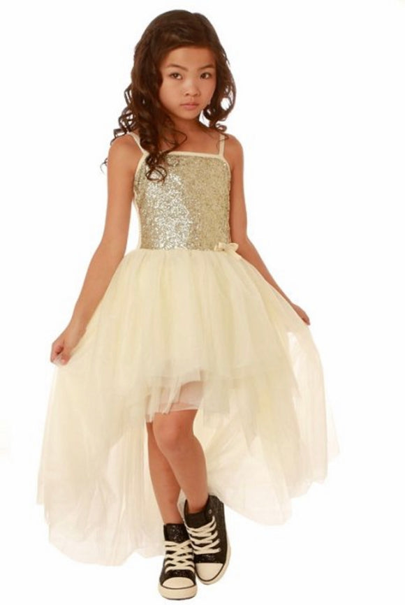 Ooh! La La! GIRLS CHAMPAGNE SEQUINS DRESS cape cod fashionista