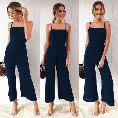 3/4 WIDE LEG STRETCH  JUMPSUIT - FEATURED