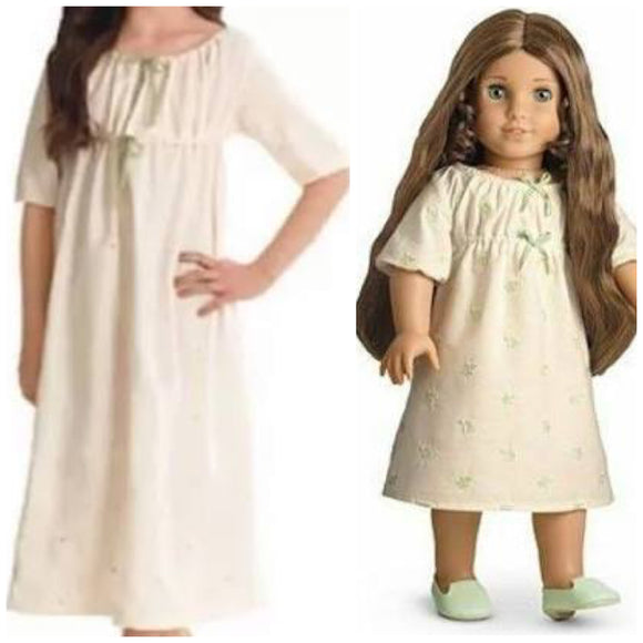 American Girl Marie Grace's Matching Nightgown SET cape cod fashionista