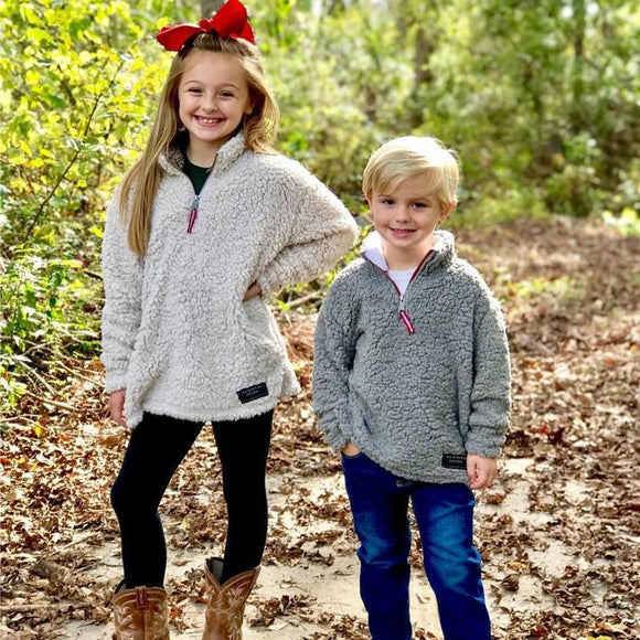 ALSOTO - BOYS - GIRLS FALL SHERPA PULLOVER