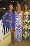 LILLY PULITZER SILK CAFTEN GYPSEA BLUE SAMPLE LOOKDRESS