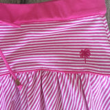 LILLY PULITZER COTTON SPANDEX ELASTIC BAND  STRIPED SKIRT WITH LOGO PALM TREE LOGO