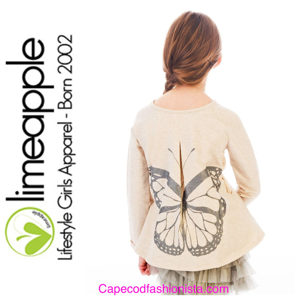 LIMEAPPLE - GIRLS BUTTERFLY FALL TOP